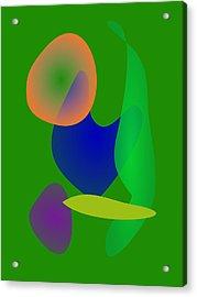 Euglena World Acrylic Print