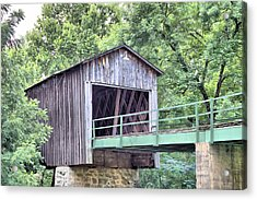 Euharlee Creek Covered Bridge Acrylic Print