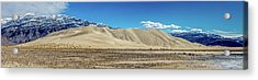 Acrylic Print featuring the photograph Eureka Dunes - Death Valley by Peter Tellone