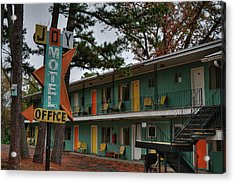 Acrylic Print featuring the photograph Eureka Springs - Joy Motel 001 by Lance Vaughn