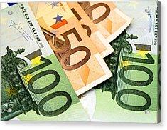 Euro Banknotes Acrylic Print