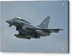 Acrylic Print featuring the photograph Eurofighter Ef2000 by Tim Beach