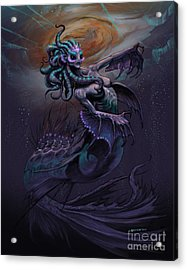 Acrylic Print featuring the digital art Europa Mermaid by Stanley Morrison