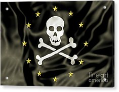 Europe Pirate Flag Acrylic Print by Benny Marty