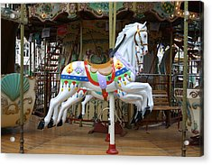 European Merry Go Round Acrylic Print by Dennis Curry
