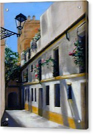European Street Acrylic Print