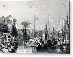European Warehouses, China, 19th Century Acrylic Print