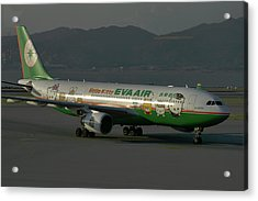 Acrylic Print featuring the photograph Eva Air Airbus A330-203 by Tim Beach