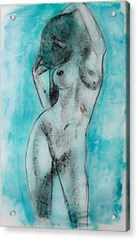 Acrylic Print featuring the painting EVA by Jarko Aka Lui Grande