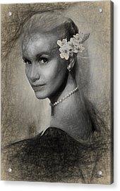 Eva Marie Saint Acrylic Print by Quim Abella