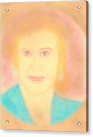 Eva Peron Soft Focus Gold Acrylic Print by Richard W Linford