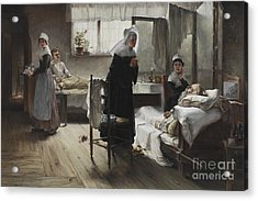 Evangeline Discovering Her Affianced In The Hospital Acrylic Print