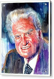 Evangelist Billy Graham Acrylic Print