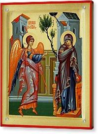 Evanghelismos Acrylic Print by Daniel Neculae