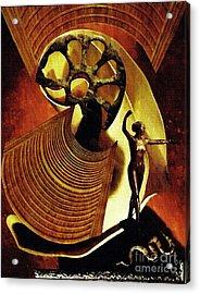 Eve Balanced On A Tightrope Acrylic Print