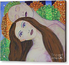 Acrylic Print featuring the painting Eve Emerges by Kim Nelson