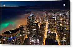 Eve Of The Superbowl In Seattle Acrylic Print