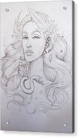 Eve Sketch Acrylic Print