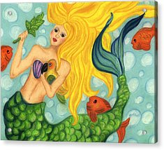 Eve The Mermaid Acrylic Print