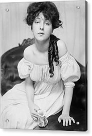 Evelyn Nesbit The Girl In The Red Velvet Swing Acrylic Print by Don Struke