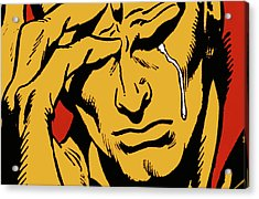 Even An Android Can Cry Acrylic Print by Brian Middleton