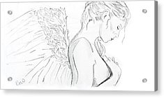 Even Angels Cry Without Quote Acrylic Print