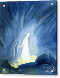Even In The Darkness Of Out Sufferings Jesus Is Close To Us Acrylic Print by Elizabeth Wang