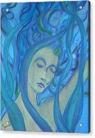 Even Mermaids Get The Blues Acrylic Print