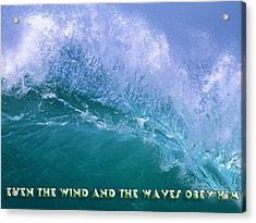 Even The Wind  Acrylic Print by Philip McDonald