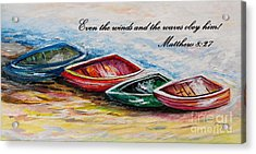 Even The Winds And Waves Acrylic Print by Eloise Schneider