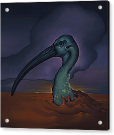 Evening And The Hiss Of Sadness Acrylic Print by Andrew Batcheller