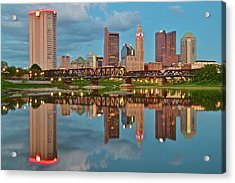 Evening Approaches In Columbus Acrylic Print by Frozen in Time Fine Art Photography
