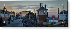 Evening At Bo'ness Station Acrylic Print