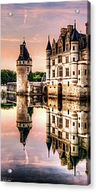 Evening At Chenonceau Castle Acrylic Print