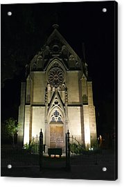 Acrylic Print featuring the photograph Evening At Loretto Chapel Santa Fe by Kurt Van Wagner