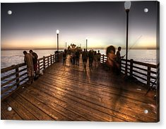 Evening At Oceanside Pier Acrylic Print