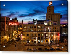 Evening At Pabst Acrylic Print by Bill Pevlor