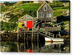 Evening At Peggys Cove Acrylic Print by Ken Morris