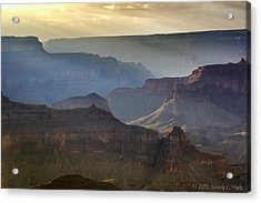 Acrylic Print featuring the photograph Evening At Pima Point by Beverly Parks