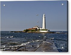 Evening At St. Mary's Lighthouse Acrylic Print