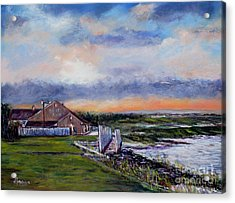 Evening At The Bay Acrylic Print by Joyce A Guariglia