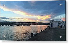 Acrylic Print featuring the photograph Evening At The Bay by Nareeta Martin
