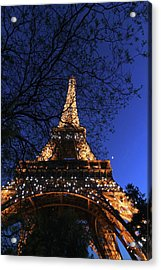 Acrylic Print featuring the photograph Evening At The Eiffel Tower by Heidi Hermes
