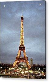 Evening At The Eiffel Tower Acrylic Print by Mike McGlothlen