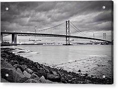 Evening At The Forth Road Bridges Acrylic Print by RKAB Works