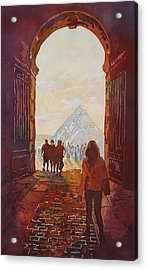 Evening At The Louvre Acrylic Print