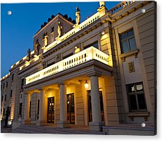 Evening At The National Theater Acrylic Print by Rae Tucker
