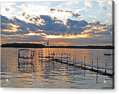 Evening Calm On Orchard Lake Acrylic Print