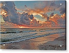 Acrylic Print featuring the photograph Evening Clouds by HH Photography of Florida