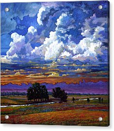 Evening Clouds Over The Prairie Acrylic Print